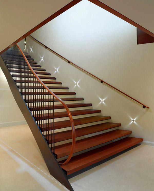 Modernos dise os de escaleras iluminadas ideas para for Escaleras con luz