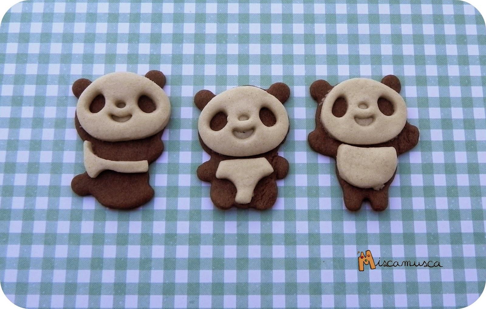 Galletas oso panda