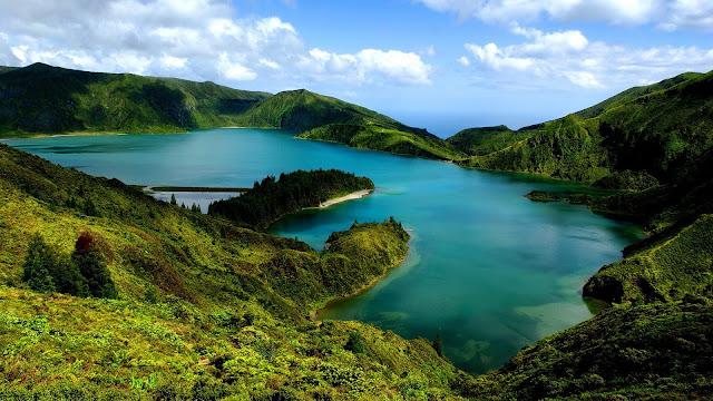 Landscape Hills and Lake