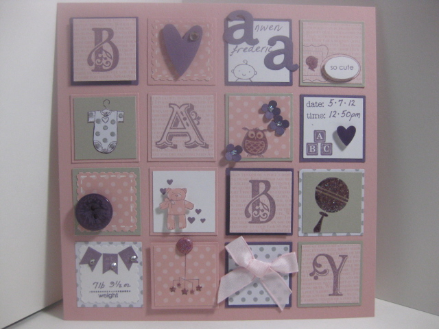 Stampin\' in Snowdonia: Baby Card & Collage Frame