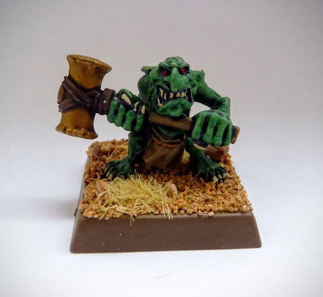 Painting update on Goblin Doom Diver for Orcs & Goblins, Warhammer Fantasy Battle.