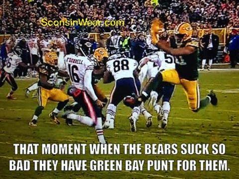 that moment when the bears suck so bad they have green bay punt for them