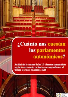 ¿Cuánto nos cuestan los parlamentos autonómicos?