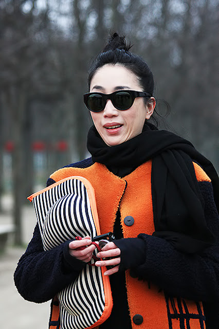 Paris fashion week, street
