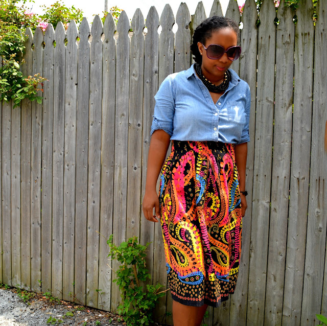 wearing completely thrifted outfit on blog