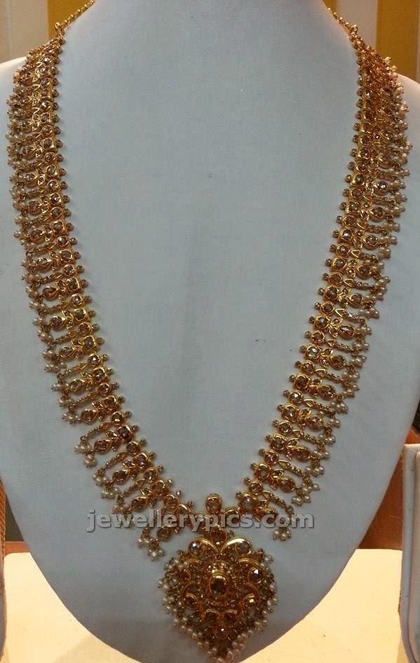 closed setting diamond haram ganesj jewels
