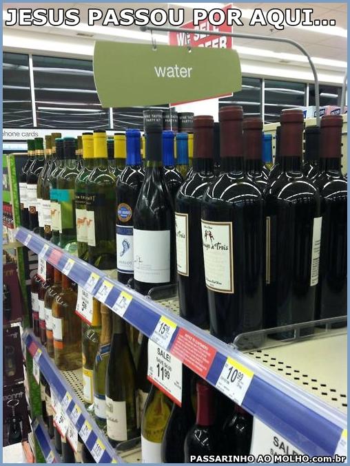 transformando água em vinho