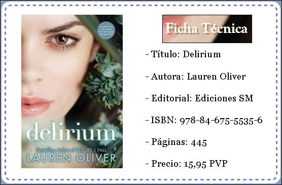 El Palacio De Los Libros  Rese U00f1a Delirium De Lauren Oliver