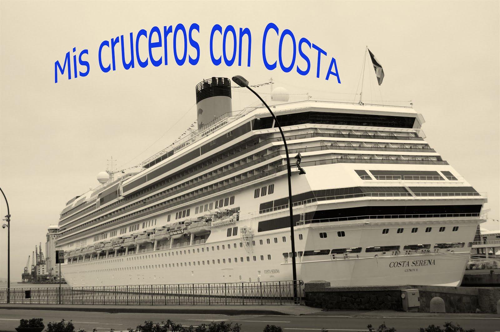 MIS CRUCEROS CON COSTA