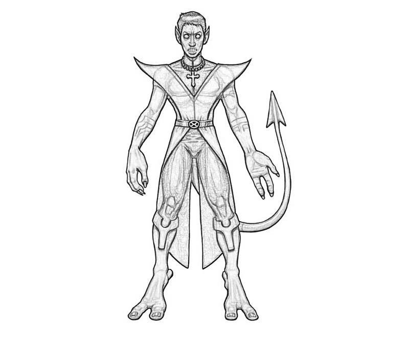 Nightcrawler Look Supertweet Nightcrawler Coloring Pages