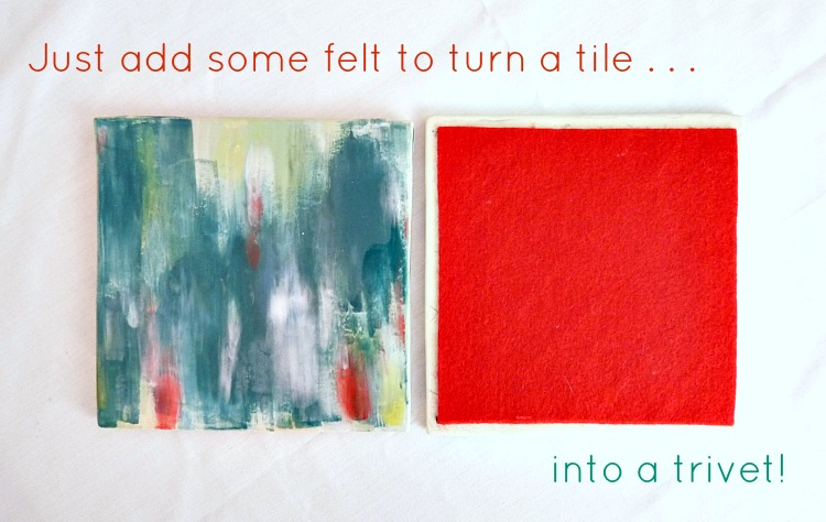 Turn a tile into a trivet
