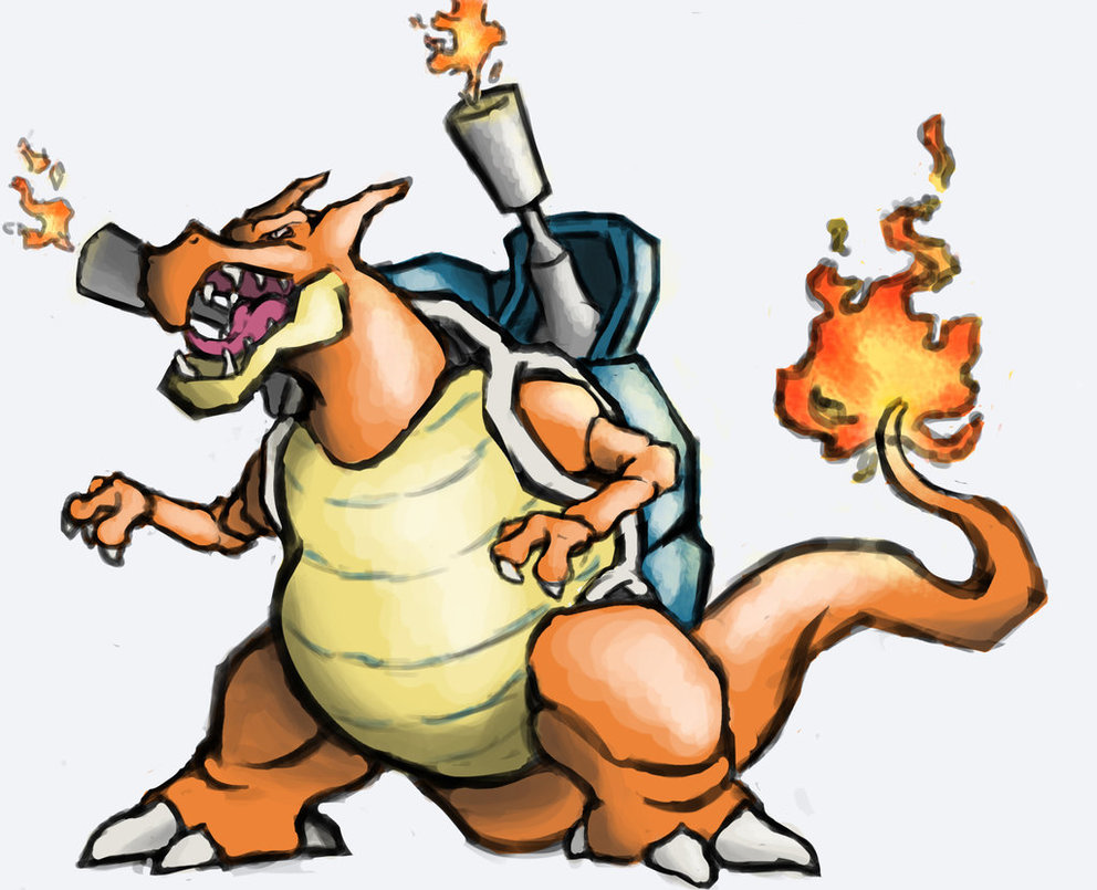 Blastoise and Charizard (Pokemon Fusion Generator)