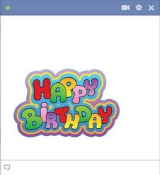 Colorful Happy Birthday Chat Emoticon
