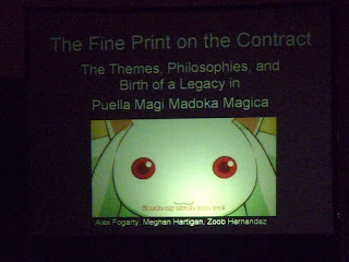 The title slide from the panel