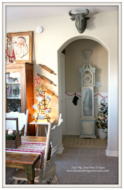 Farmhouse Christmas Kitchen-Breakfast Nook-Hallway-From My Front Porch To Yours