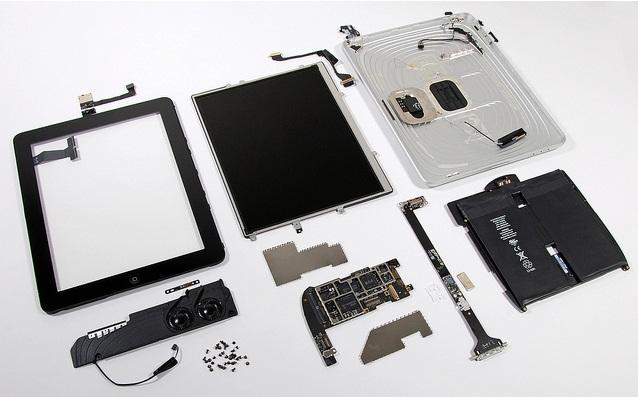 Les différentes composantes d'une tablette