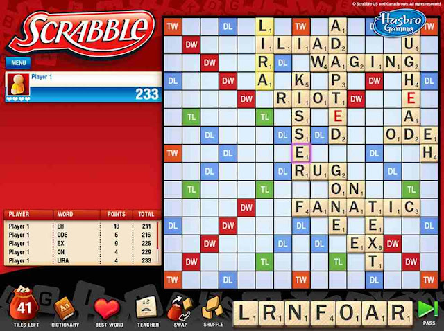 But wait Why would someone cheat on Scrabble