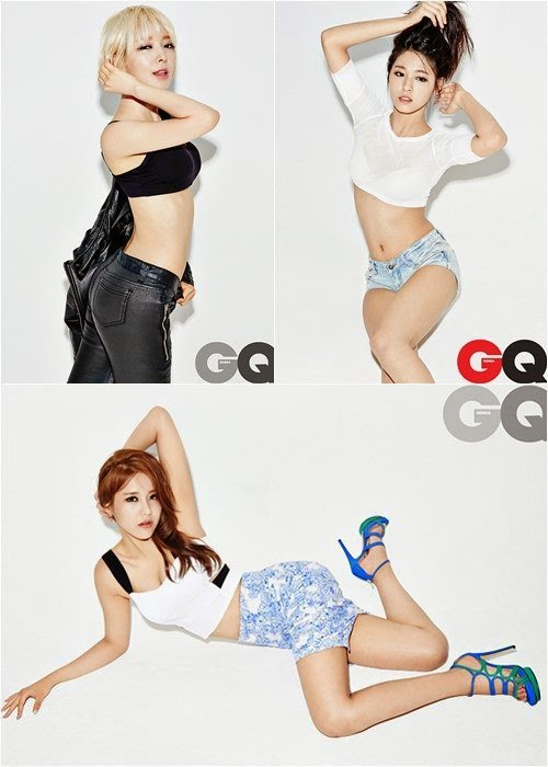 AOA flaunt their slender body lines for GQ Korea