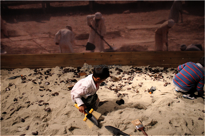 indiana jones exhibit sandbox dig site