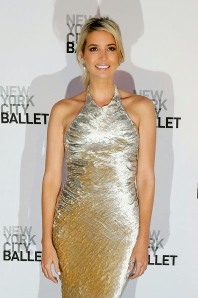 Ivanka Trump really doesn't want to disappoint his father, Donald Trump as she going briefly with a gown at the Gala event in the Big Apple, New York on Tuesday, September 23, 2014.