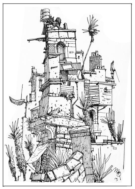 Scotch corner sketchbook tower for Ponteggio ceta dwg