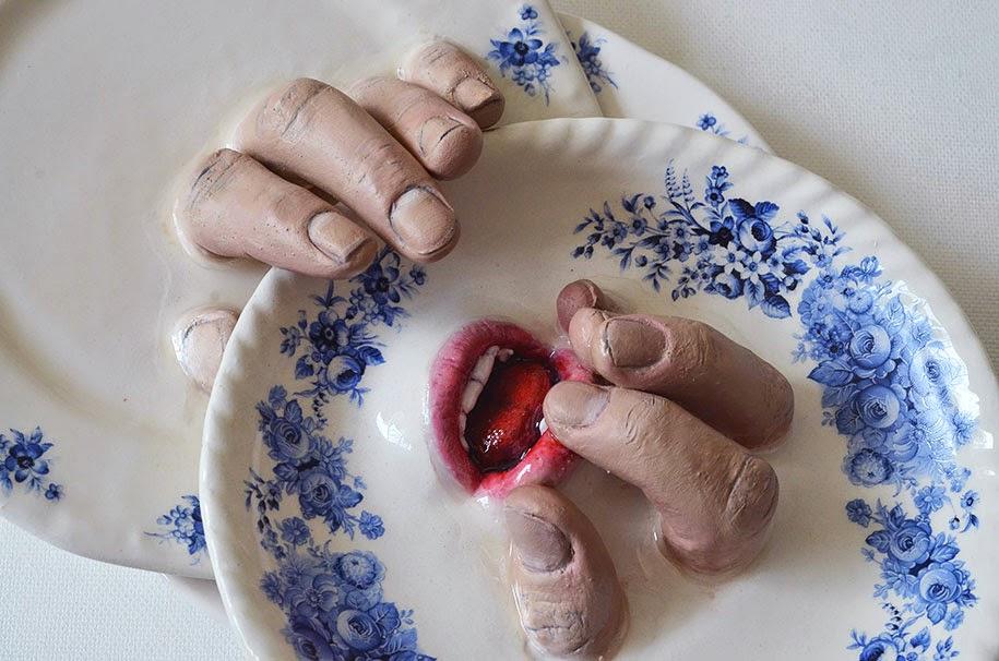 creepy ceramic tableware ronit baranga-4