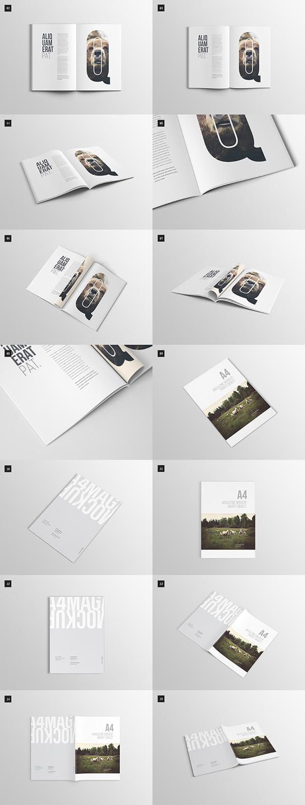 Download Gratis Mockup Majalah, Brosur, Buku, Cover - A4 Magazine Mock-up