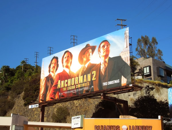 Anchorman 2 movie billboard