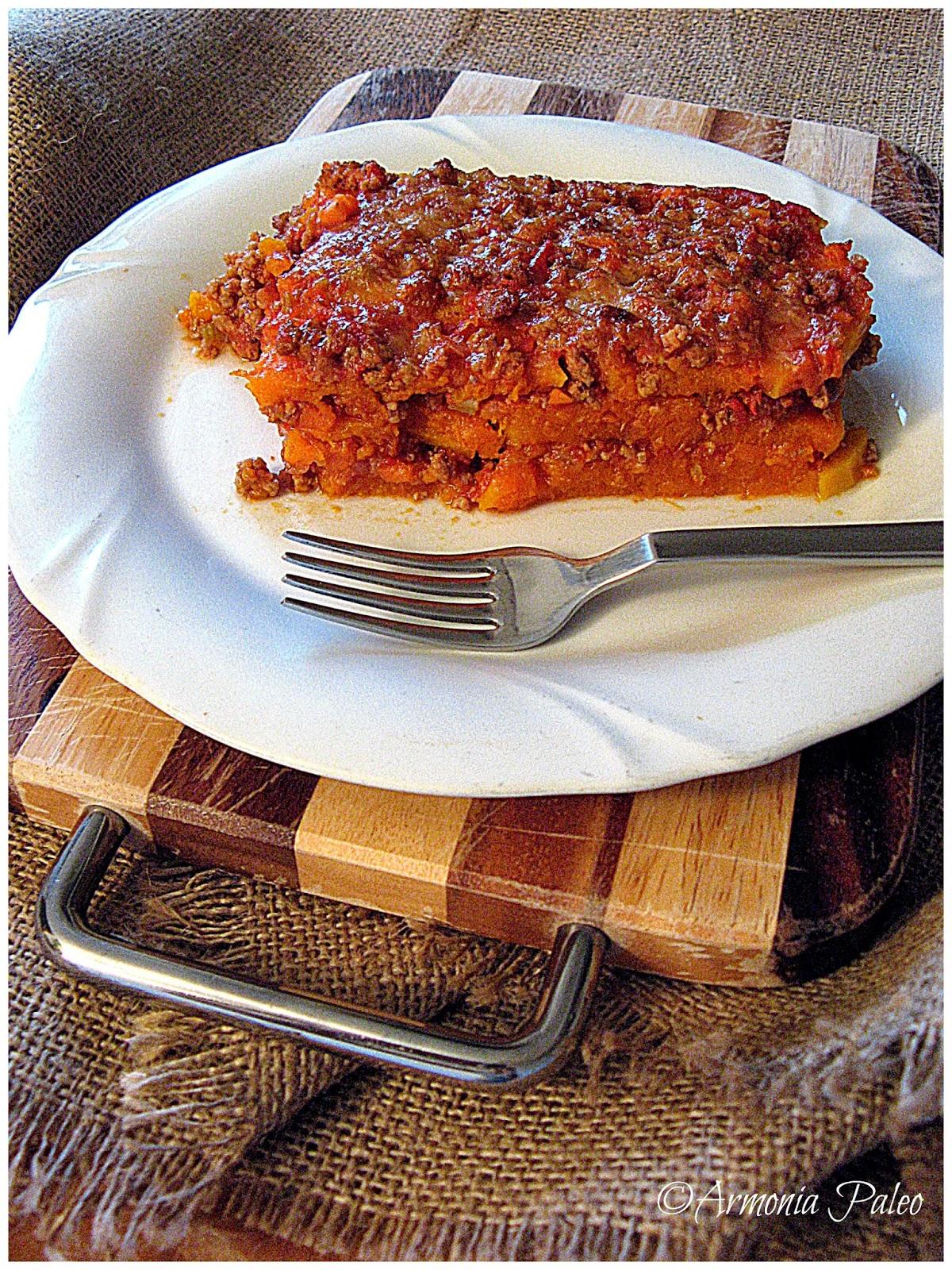 Paleo Lasagne di Zucca di Armonia Paleo