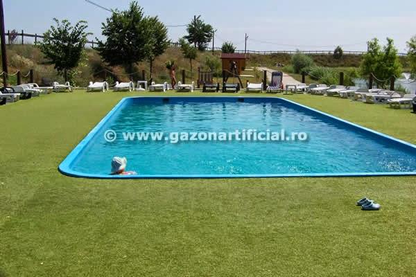 gazon decorativ piscina