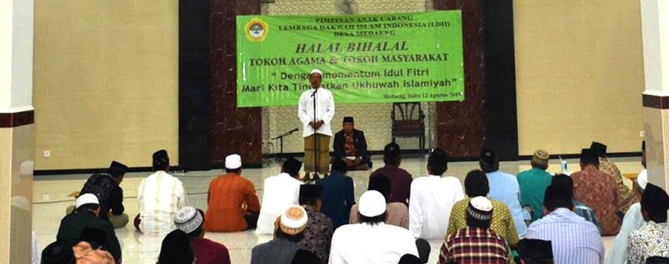 Ulama dan Masyarakat Hadiri Halal Bihalal PAC LDII Medaeng