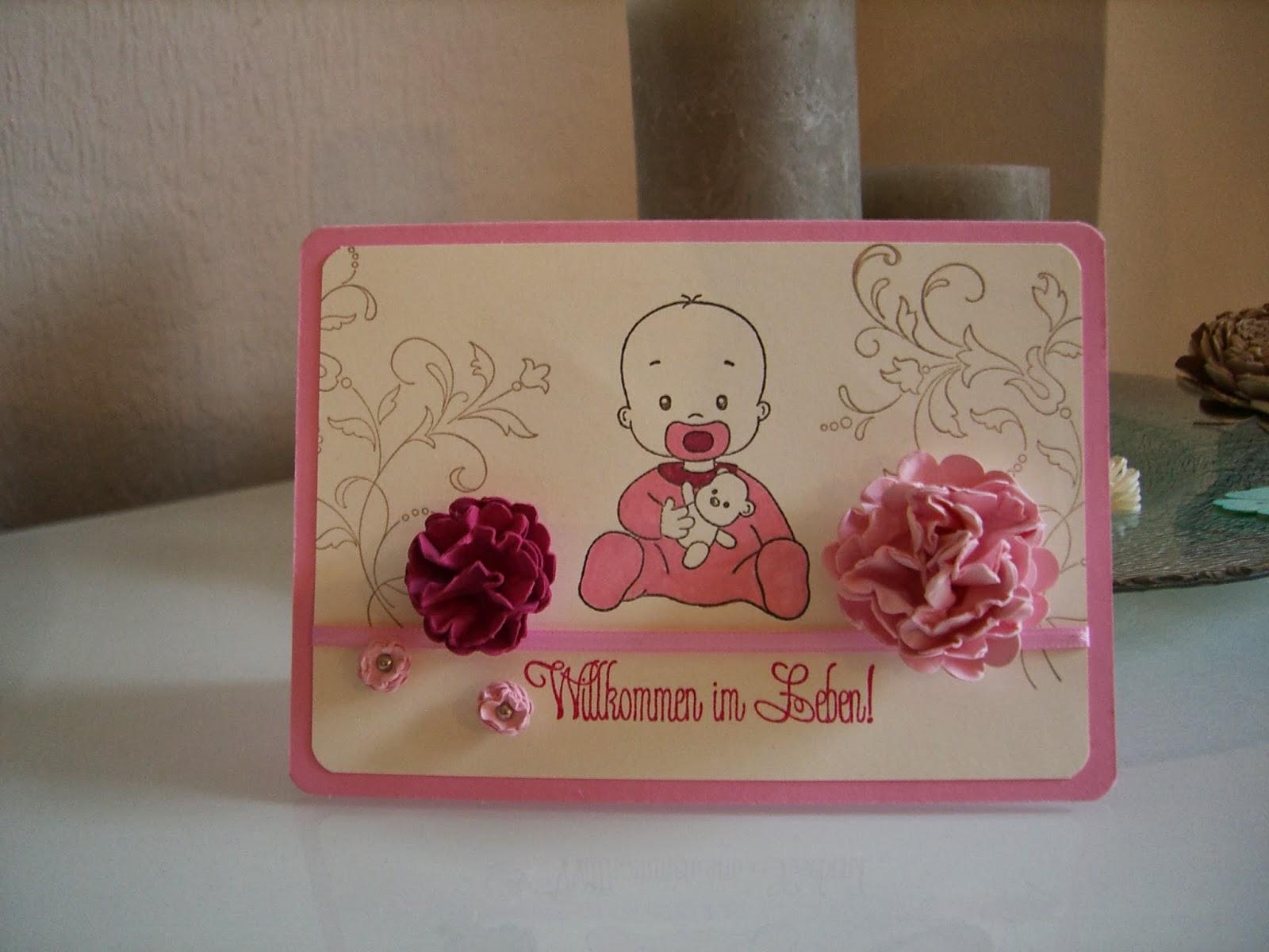 Mädchen rosa Willkommen im Leben