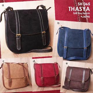 Jual Online Sling Bag Beludru Wanita Murah Model Kekinian - Thasya SH 065