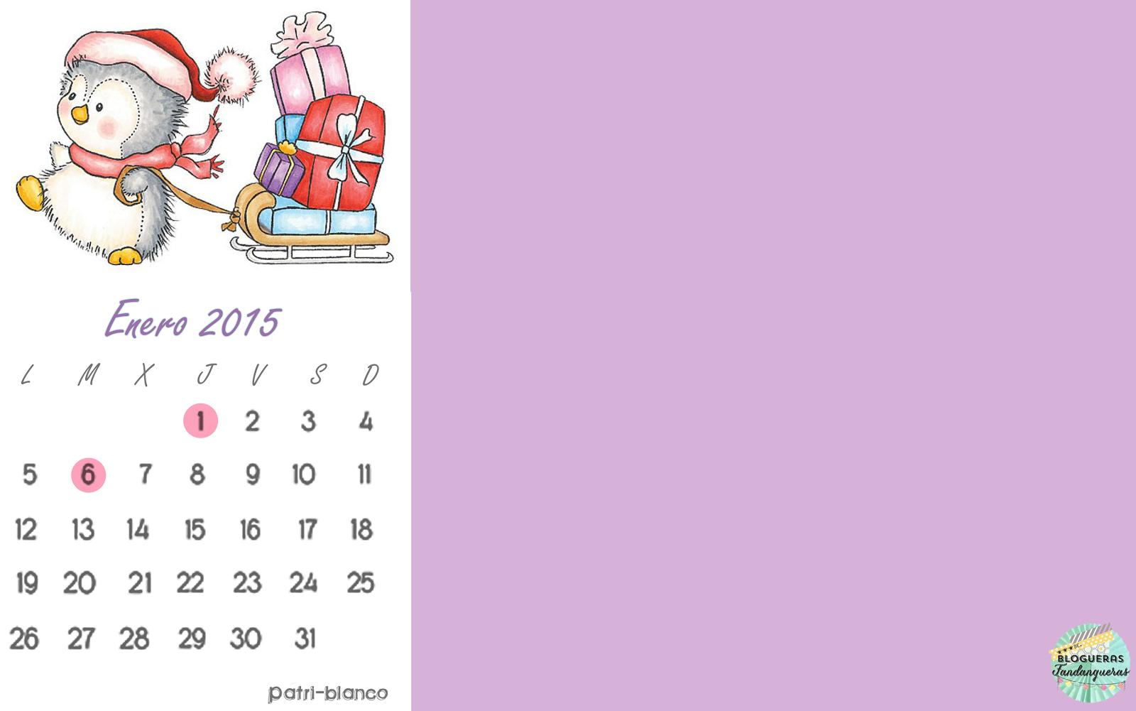 calendario de Enero
