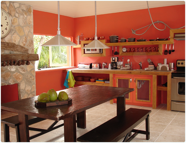 Design  Fresh Home Design Ideas Coral Colors Kitchen Interior Design