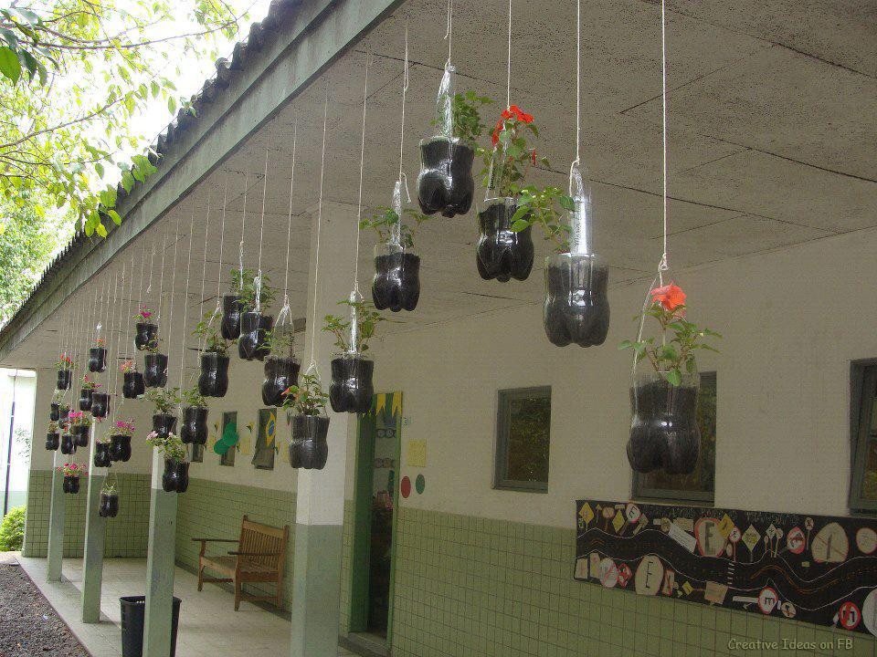 Hanging Garden Made Of Bottles