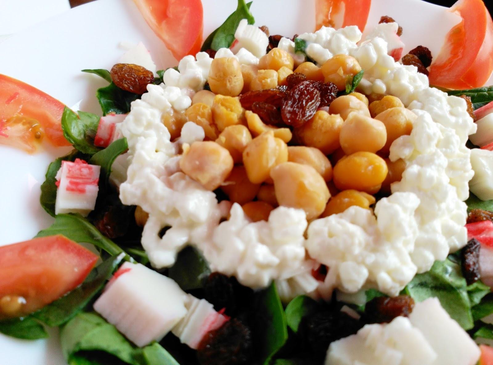 Ensalada de espinacas y garbanzos recetas fitness f ciles - Ensalada de garbanzos light ...