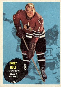 bobby hull chicago blackhawks topps hockey card
