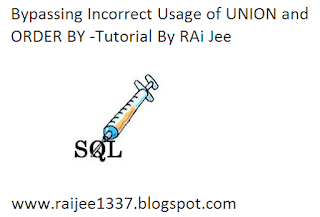 Bypassing Incorrect Usage of UNION and ORDER BY -Tutorial