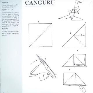 Origami - Dobraduras de papel machê. Canguru 2.