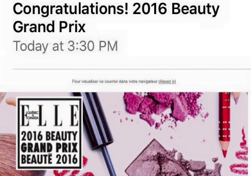Check Your Emails ELLE 2016 Beauty Grand Prix Winners Chosen
