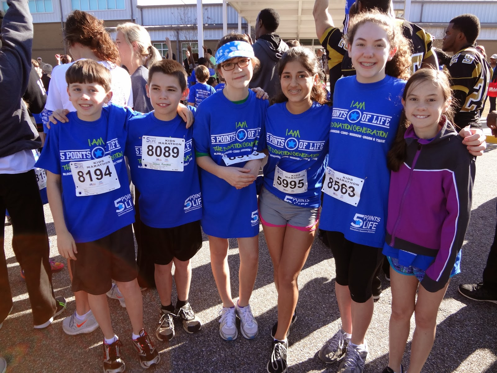 Montgomery Catholic Sixth Graders Participate in 5 Points of Life Marathon 1