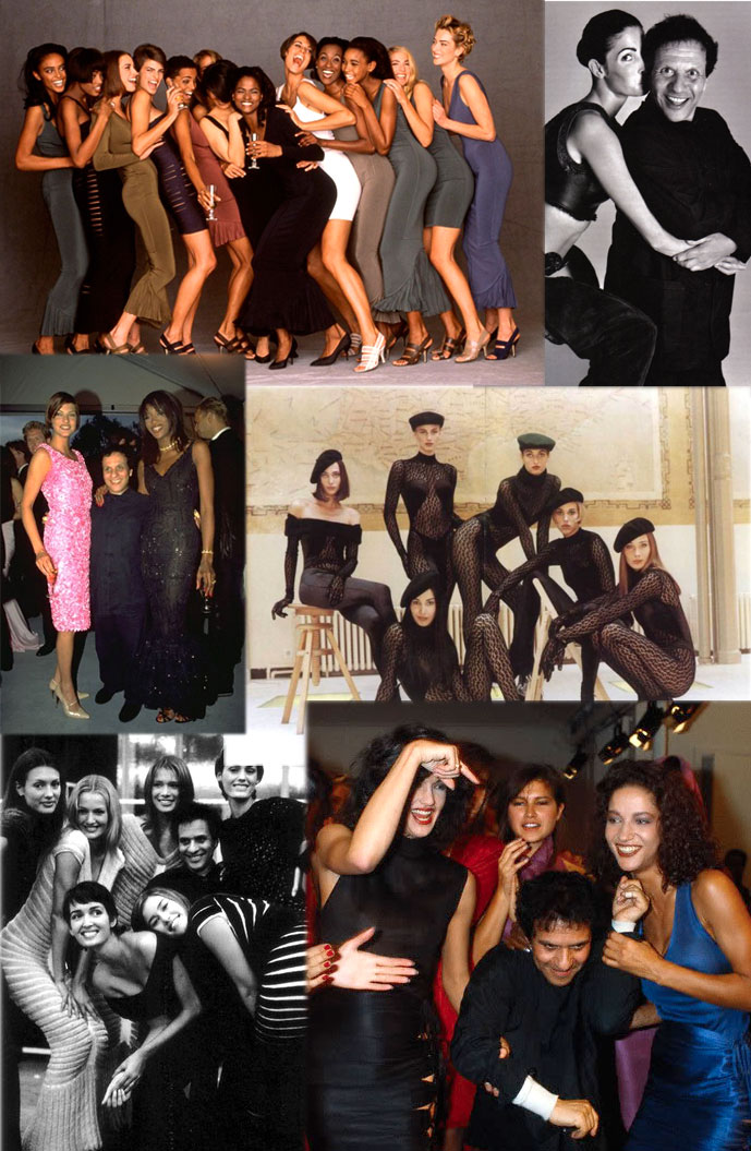 Azzedine Alaia & his models