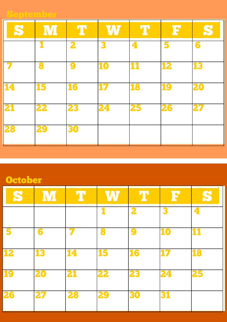 This is a picture of Divine Printable Monthly Calendars Free