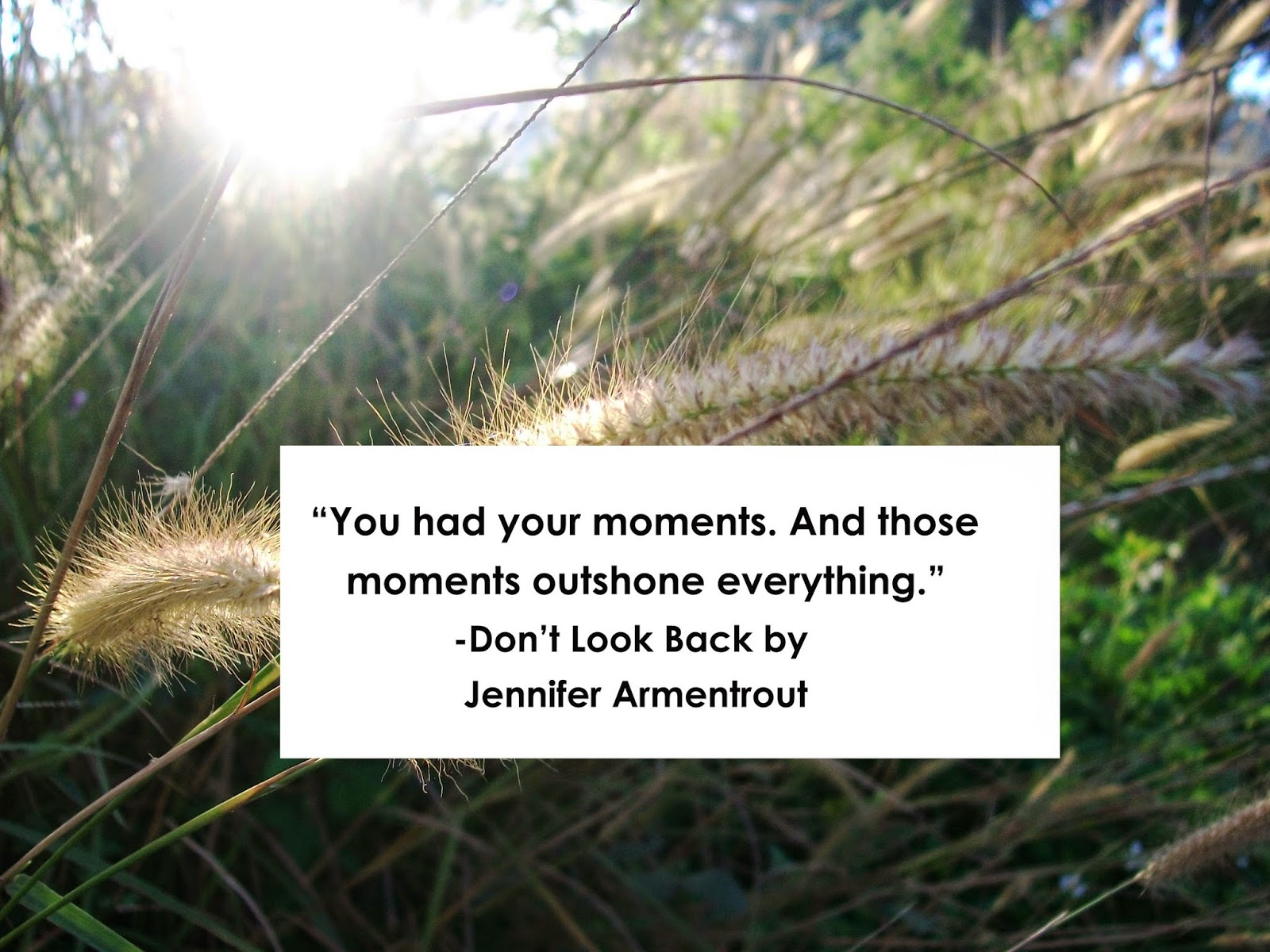 a quote from don t look back by jennifer armentrout koshe