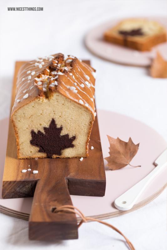 Kuchen Mit Motiv Herz Blatt Herbstlicher Apfel Zimt Kuchen