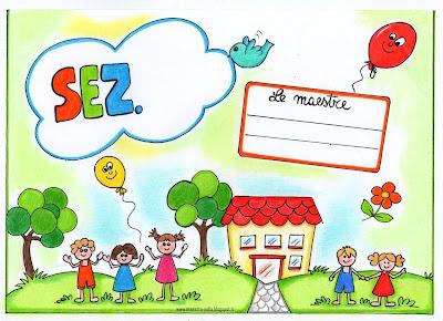 Maestra nella cartellone 39 benvenuti 39 per la porta della for Cartelli porta aula scuola primaria