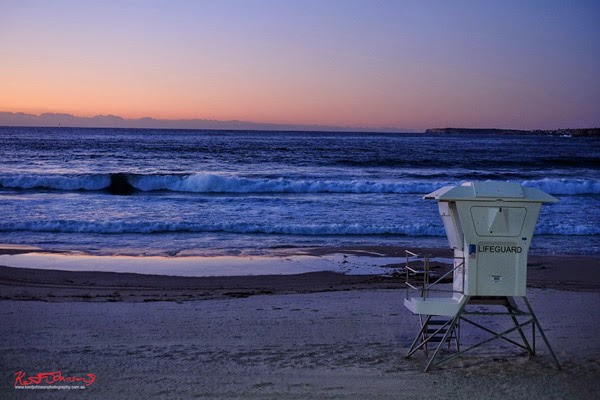 A pre-dawn look at a deserted Bondi Beach by Kent Johnson.