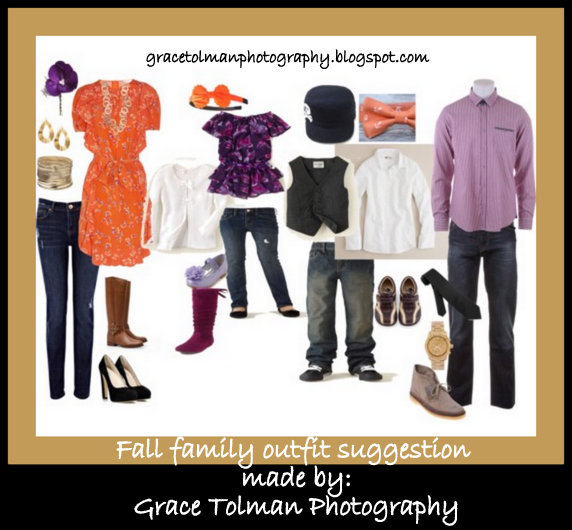 Fall Family Photo Outfit Ideas http://gracetolmanphotography.blogspot.com/2012/08/fall-family-outfit-ideas-colorado.html