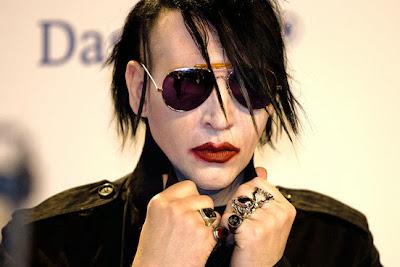 Marilyn Manson wear Manticore Ring by Strange Freak Designs